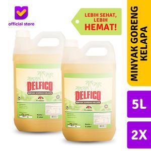 [TWIN PACK] Minyak Goreng Kelapa DELFICO - 5L Jerigen