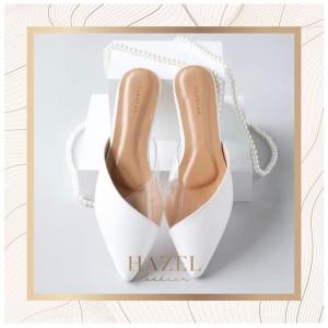 Sepatu Flatshoes Wanita Simple Minimalis Putih Premium Sandal Flat