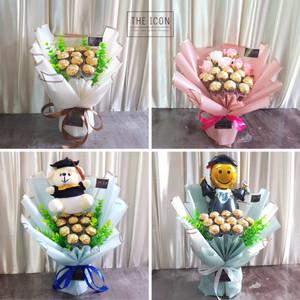 Ferrero Rocher Bouquet 12pcs | Buket Coklat Ferrero | Buket Valentine