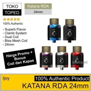 Authentic IJOY KATANA | 24mm | 24 dual coil mesh