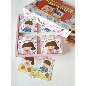 (CICIKOKO MOONCAKE ISI 4) box untuk mooncake mid autumn [10 set]