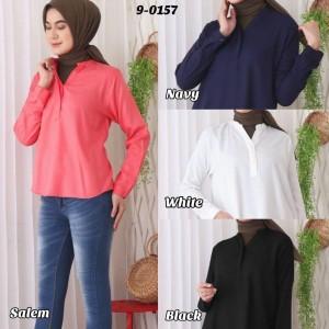 Baju Atasan Wanita Bahan Rayon Lembut Kerah Shanghai 9-0157