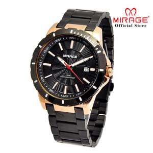 Jam Tangan Pria Terbaru MIRAGE 8549M Black Rosegold