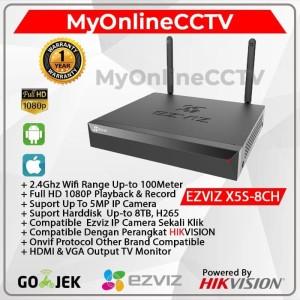 Wireless Wifi NVR EZVIZ IP Camera CCTV HIkvision Onvif 8CH