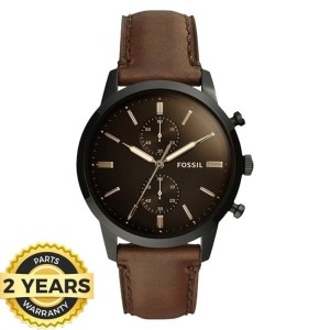 Fossil FS5437 leather brown 43mm original