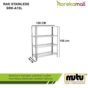 rak barang|rak susun stainless steel mutu 1.5 Meter SRK-A15L
