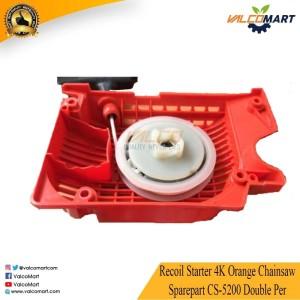 Recoil Starter 4K Orange Chainsaw Sparepart CS-5200 Double Per