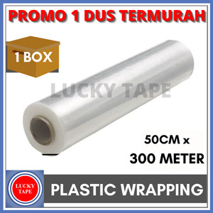 TERMURAH 1 BOX STRETCH FILM 50CM X 300M PLASTIK WRAPPING BEST QUALITY