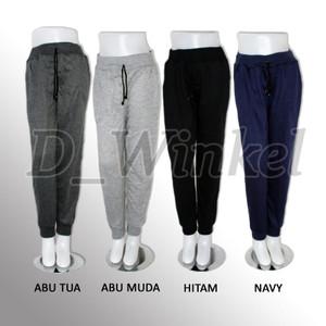 Celana Jogger Wanita   Jogger Pants Katun Stretch Bahan Melar/Elastis