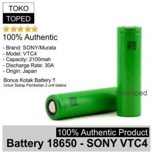 Authentic Battery 18650 Sony VTC4 2100mAh | original baterai vtc 4