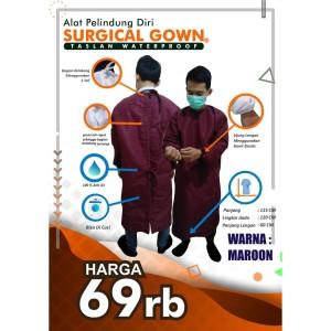APD Gown Surgical Taslan Waterproof baju bedah anti air bisa dicuci