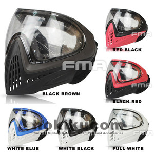 Tactical Mask FMA F1 Full Face Safety Airsoft Double Layer Lens