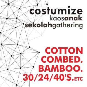 produksi /pesan kaos, gathering/reuni/promosi, aplikasi sablon/bordir