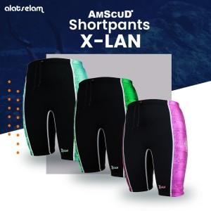 AmScuD ShortPant X-LAN Neoprene 1.5mm Green
