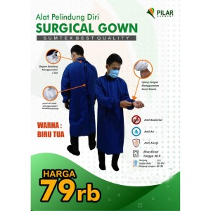 APD Gown Surgical Standard Rumah Sakit AKD Kemenkes bisa dicuci