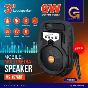 GPOWER SPEAKER MS1676BT Wireless Multimedia Speaker FREE MIC