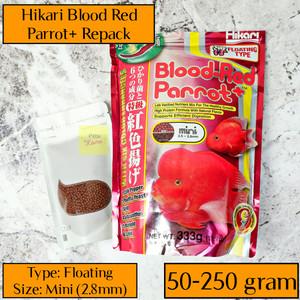 Katalog Hikari Blood Red Mini Parrot Pakan Pellet Pencerah Warna Agresif Merah Katalog.or.id