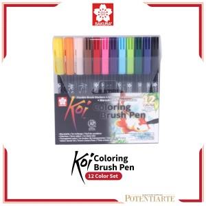 Harga Sakura Koi Coloring Brush Pen 6 Gray Set Katalog.or.id