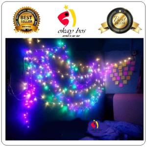 Info Lampu Natal Christmas Light Led Premium 10m Rgb Kabel Hitam Katalog.or.id