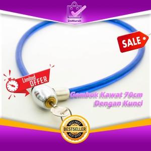 Harga Gembok Kawat 70cm Dengan Kunci Gembok Sepeda Helm Cable Lock Katalog.or.id