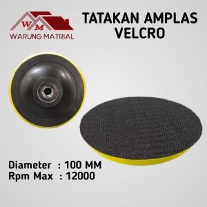 Harga Termurah Tatakan Amplas Bulat Tempel 4 Pad Velcro Gerinda Tangan Katalog.or.id