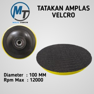 Katalog Termurah Tatakan Amplas Bulat Tempel 4 Pad Velcro Gerinda Tangan Katalog.or.id