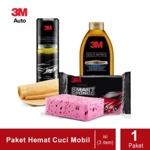 Katalog 3m Paket Hemat Cuci Mobil Premium Car Wipe Smart Sponge Car Wash Katalog.or.id