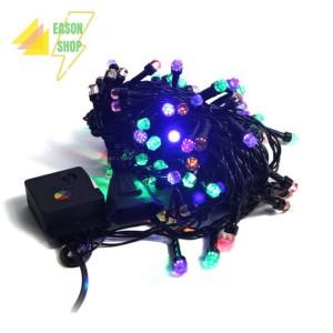 Harga Lampu Natal Christmas Light Led Premium 10m Rgb Kabel Hitam Katalog.or.id