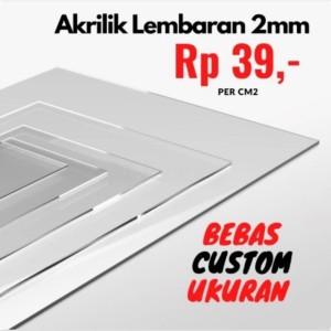 Katalog Akrilik Acrylic Lembaran Custom Bening 2mm Katalog.or.id