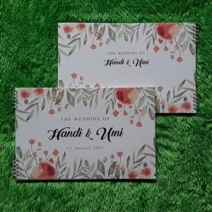Info Buku Tamu Pernikahan Hardcover Design Custom Wedding Bk 1 Katalog.or.id