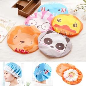 Harga Shower Cap Tebal Pink Salur Topi Mandi Plastik Penutup Kepala Katalog.or.id