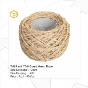 Info Tali Rami Hemp Rope Katalog.or.id