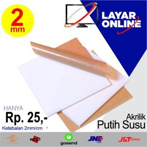 Info Akrilik Lembaran Acrylic Sheet Tebal 2mm Ukuran Sesuai Permintaan Katalog.or.id