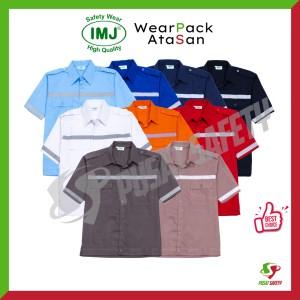 Harga Baju Seragam Kerja Safety Lengan Pendek Dongker Katalog.or.id