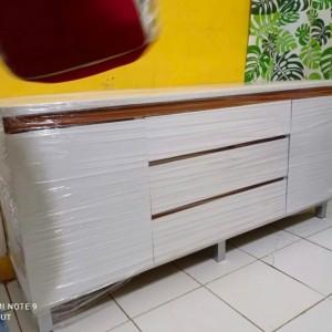 Harga Rak Tv Minimalis Meja Tv Borussia Cabinet 1200 White Natural Katalog.or.id
