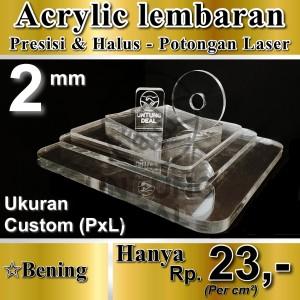 Harga Akrilik Acrylic Lembaran Custom Bening 2mm Katalog.or.id