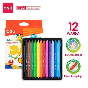 Harga Deli Ec20000 School Crayon Krayon Plastic Crayon Triangle 12c Katalog.or.id