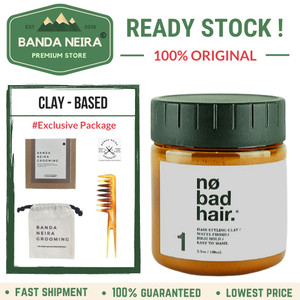 Katalog No Bad Hair Creamy Clay Original Lokal Murah Pomade Katalog.or.id