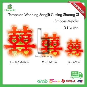 Katalog Tempelan Shuang Xi Emas Sangjit Wedding Hiasan Katalog.or.id