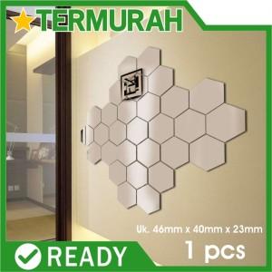 Harga Cermin Kaca Hexagonal Segi Enam Hiasan Dinding 12pcs Silver Katalog.or.id