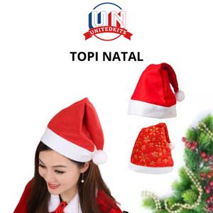Info Topi Natal Murah Topi Santa Polos All Size Merry Christmas Bando Katalog.or.id