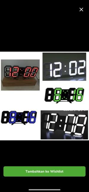 Harga Jam Digital Led Warna Hitam With Alarm Jam Dinding Katalog.or.id