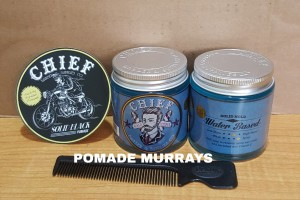Katalog Pomade Chief Blue Waterbased Free Sisir Hitam Stiker Katalog.or.id