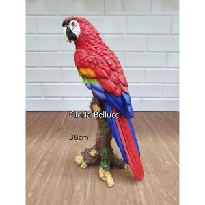 Katalog Patung Pajangan Burung Parrot Betet Bayan Merah Besar Katalog.or.id