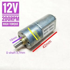 Info 12 N20 Dc 6v 200rpm Mini Micro Motor Gearbox Gear Box N20 For Robot Katalog.or.id