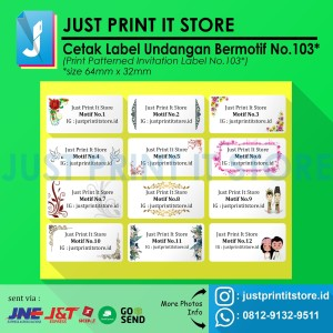 Katalog Print Cetak Label Undangan Bermotif Katalog.or.id