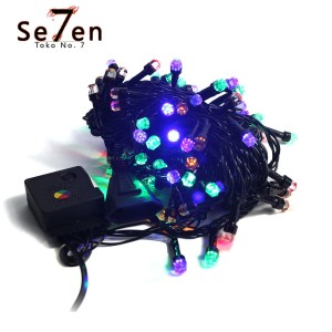 Katalog Lampu Natal Christmas Light Led Premium 10m Rgb Kabel Hitam Katalog.or.id