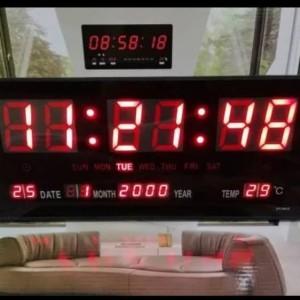 Info Jam Digital Led Warna Hitam With Alarm Jam Dinding Katalog.or.id
