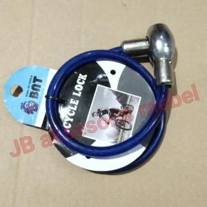 Info Gembok Kawat 70cm Dengan Kunci Gembok Sepeda Helm Cable Lock Katalog.or.id