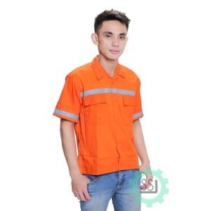 Info Baju Seragam Kerja Safety Lengan Pendek Dongker Katalog.or.id